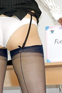 Kirsty Blue Teases At The Desk Giving You A Homework
