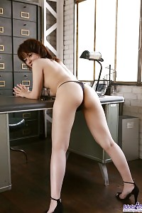 Greatest Seanna Demonstrates Her Enchanting Body As She Bends On The Table In Red Panties