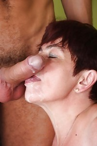 Simone Teases A Young Cunt-chaser By Exploring Off Her Soft Jugs And Lets Her Have A Go At His Cock